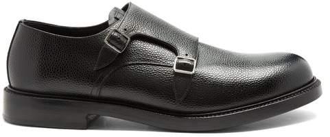 Calvin Klein Double monk-strap leather shoes