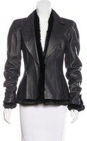 Chanel Fur-Trimmed Leather Jacket