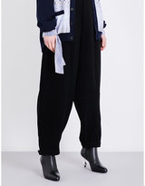 Loewe Wide pleated high-rise crepe trousers