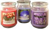 Asstd National Brand Scented Candles- Floral Collection in 18oz Glass Jars (Set of 3)