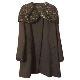 Twin-Set Twin Set Blue Wool Coat for Women