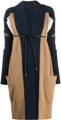 Sacai Long-Line Knitted Cardigan