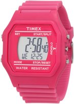 Timex Women's Jumbo T2N246 Pink Resin Quartz Watch with Dial