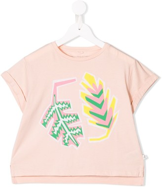 Stella McCartney Kids leaf print T-shirt