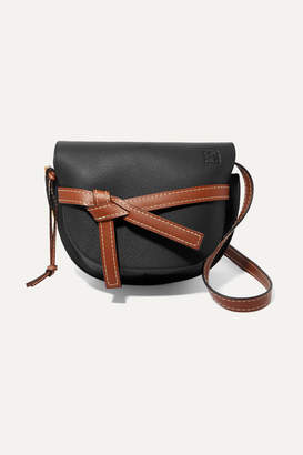 Loewe Gate Small Textured-leather Shoulder Bag - Black