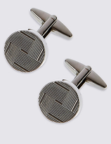 Marks And Spencer Marks And Spencer Round Grid Textured Cufflinks