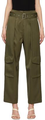 DRAE Khaki Wool Pocket Trousers