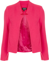 Topshop Ponte Notch Neck Jacket