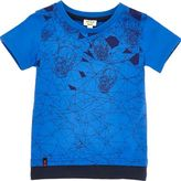 River Island Mini boys blue skull print layered T-shirt