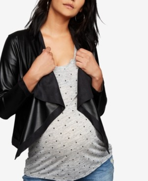 BB Dakota Maternity Draped Jacket