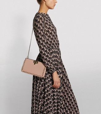 Valentino Garavani Leather Rockstud Clutch Bag