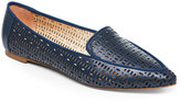 Franco Sarto Lapis Blue Soho Laser-Cut Flat Loafers