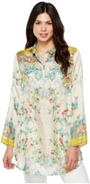 Johnny Was Vintage Floral Tunic Women's Blouse