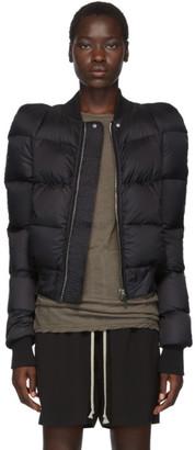 Rick Owens Black New Bomber Jacket