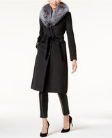 MICHAEL Michael Kors Fox-Fur-Collar Walker Coat