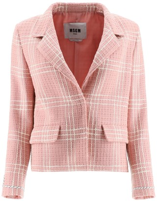 MSGM Tweed Checked Blazer
