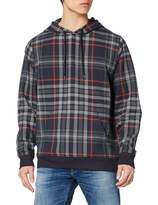 Urban Classics Urban Classic Men's Pullover All-Over-Print Check Crewneck Hoodie