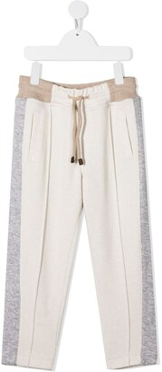 BRUNELLO CUCINELLI KIDS Colour-Block Panel Trousers