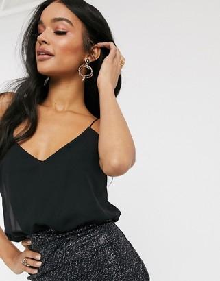 TFNC cami 2 in1 dress-Black