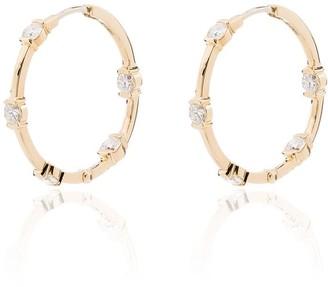 Melissa Kaye Zea 18kt yellow gold diamond hoop earrings