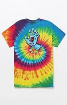 Santa Cruz Screaming Hand Tie Dye T-Shirt