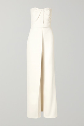 Safiyaa Layered Strapless Crepe Jumpsuit - Ivory