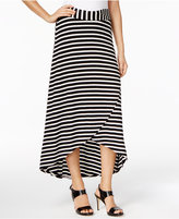NY Collection Petite Striped High-Low Skirt