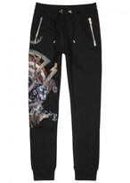 Balmain Panther-print Cotton Jogging Trousers