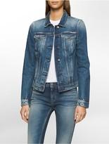 Calvin Klein Jet Blue Denim Trucker Jacket