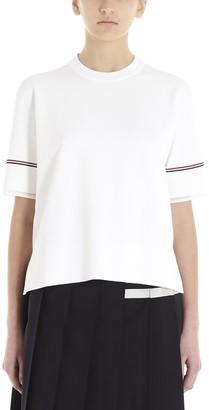 Thom Browne Stripe Detail Boxy T-Shirt