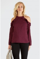 Select Fashion CHIFFON HALTER NECK FRILL BLOUSE - size 6