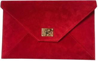 Jimmy Choo Rosetta Red Suede Clutch bags