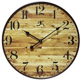 Infinity Instruments 24 Inch Large Natural Wood-Style Wall Clock, Eaglewood