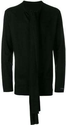 Yohji Yamamoto tie front jumper