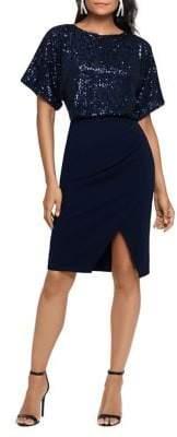 Xscape Evenings Sequin Scuba Combo Dress
