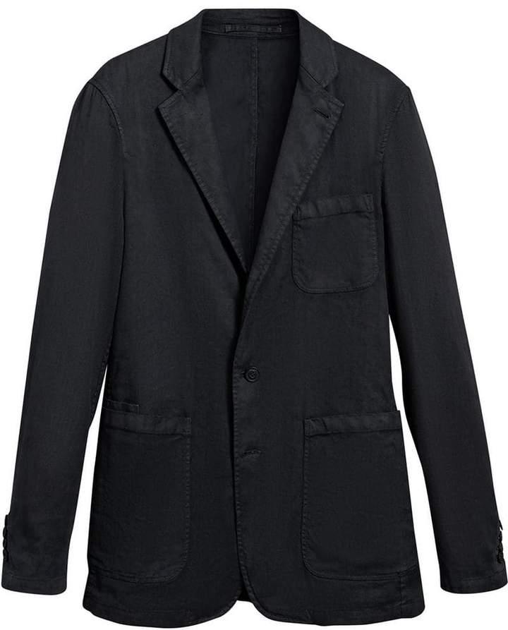 Burberry Slim Fit Linen Cotton Tailored Jacket