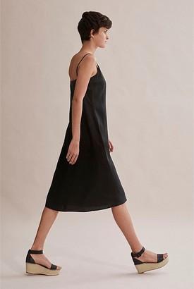 Country Road Linen Summer Midi Dress