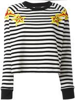 Just Cavalli striped star print sweatshirt - women - Cotton/Acrylic/other fibers - 42