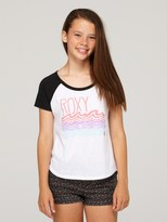 Roxy Girls 7-14 Cool Waves Raglan Tee Shirt