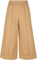 MSGM wide leg cropped trousers - women - Cotton - 42