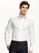 Old Navy Regular-Fit Non-Iron Signature Stretch Dress Shirt for Men