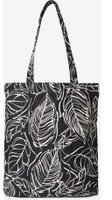 Dorothy Perkins Womens Black Leaf Print Canvas Shopper Bag- Black