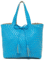 Urban Expressions Woven Reversible Weekend Tote Bag