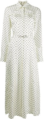 Gabriela Hearst Polka-Dot Shirt Dress