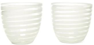 Yali Glass - Set Of Two A Nastro Goto Tumblers - White