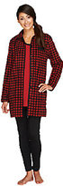 Carole Hochman Petite Pajama Set with Fleece Jacket, Knit Top & Leggings
