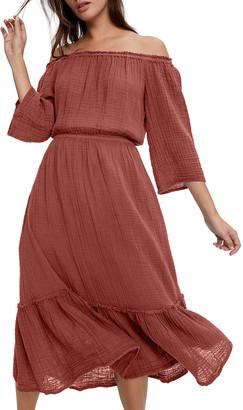 Michael Stars Anya Convertible Tiered Dress