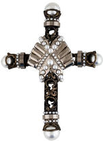 Givenchy Embellished Cross Brooch