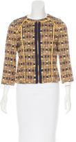 Tory Burch Tweed Collarless Jacket
