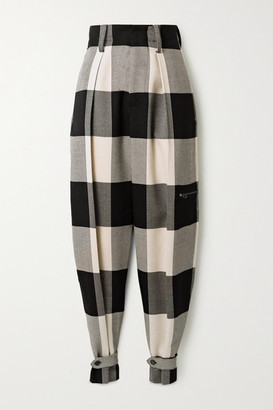 TRE by Natalie Ratabesi Checked Wool Tapered Pants - Ecru